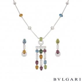 Bvlgari White Gold Multi-Gem & Diamond Allegra Suite